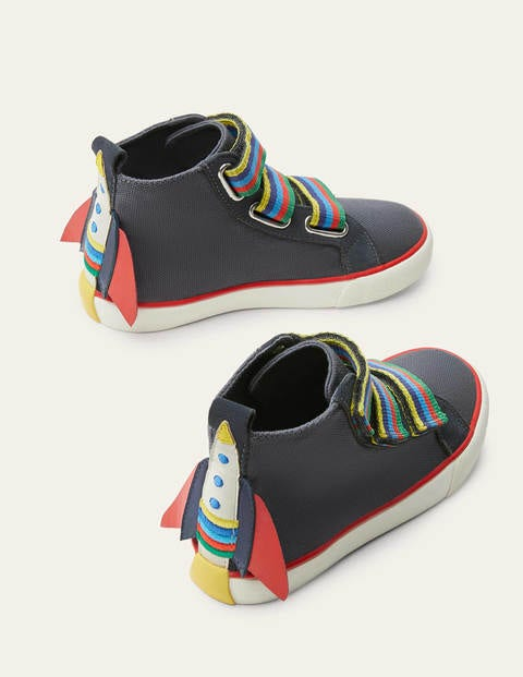 Space High Tops - Dark Grey Rainbow