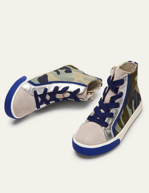 Camo Canvas High Tops - Camouflage
