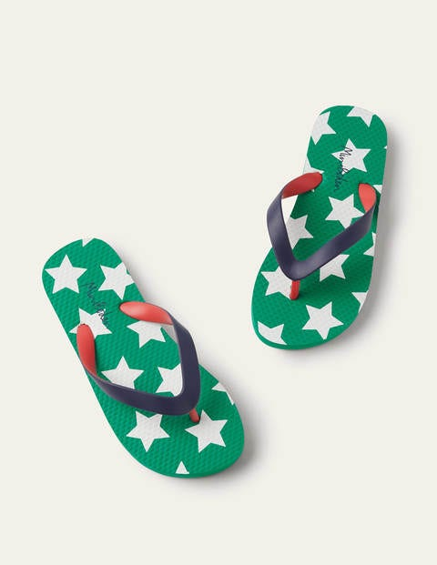 Flip Flops - Green Pepper Star