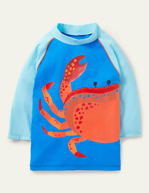 Graphic Rash Vest - Pool Blue Crab