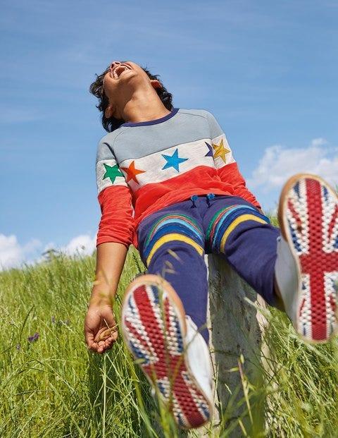 Raglan-T-Shirt - Erdbeerkuchenrot, Sterne