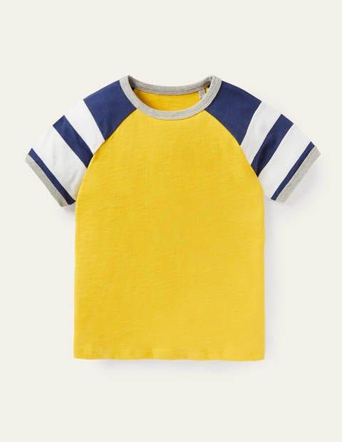 Colourblock Raglan T-shirt - Daffodil Yellow/College Navy