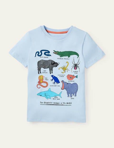 T-Shirt mit Tiermotiven - Provence-Blau, Gefährliche Tiere