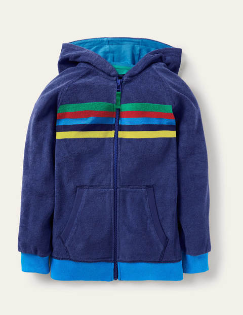 Towelling Zip-through Hoodie - Starboard Blue