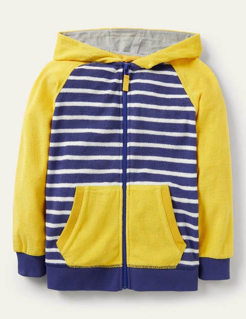Towelling Zip-through Hoodie