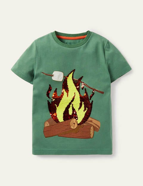 Outdoor-T-Shirt mit Pailletten