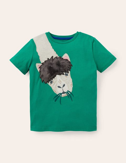 Bright Animal Appliqué T-shirt