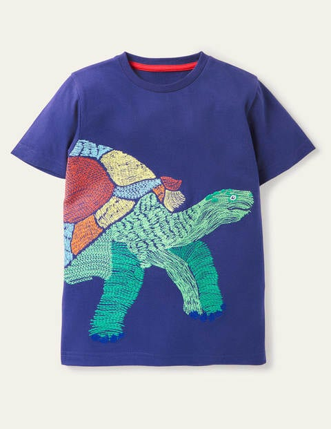 T-Shirt mit Superstitch-Reptil