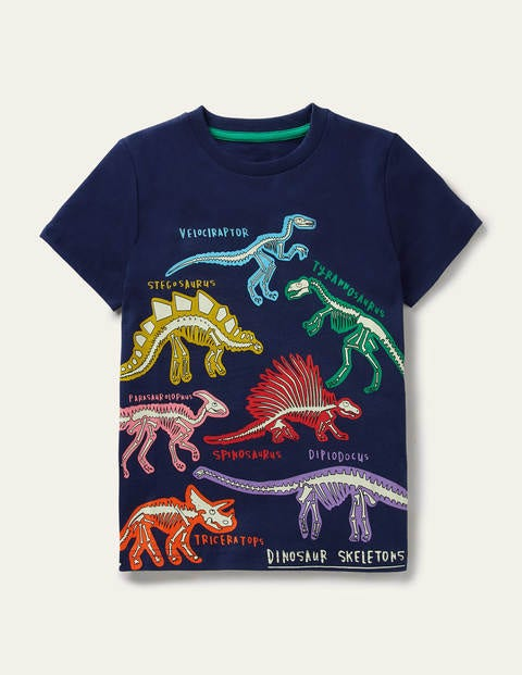 T-shirt à motif dinosaures brillants