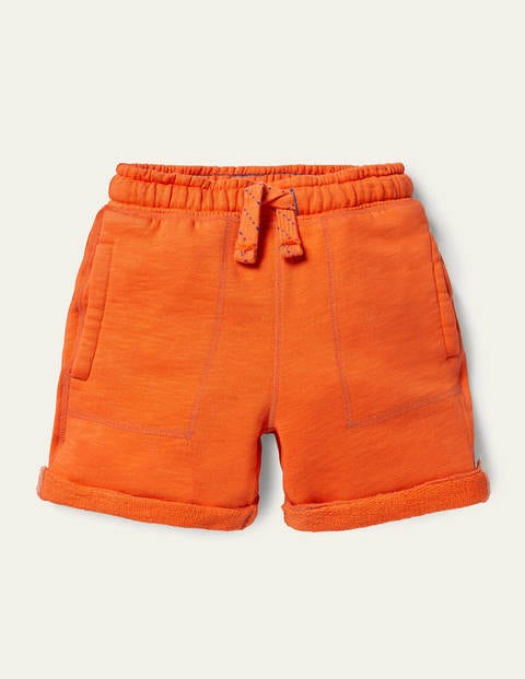 Garment-dyed Sweatshorts - Satsuma Orange