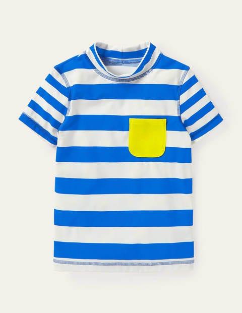 Short-sleeved Rash Guard - Noble Blue/White