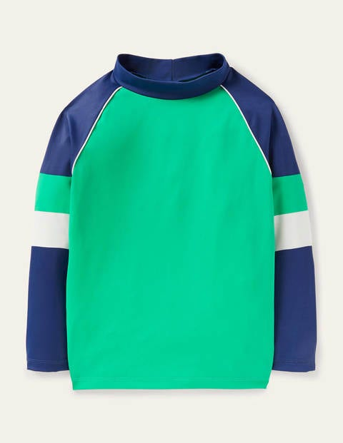 Rash Guard - Shamrock Green/College Navy
