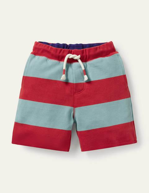 Slub Jersey Shorts - Rockabilly Red/Orkney Blue