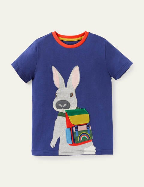Travelling Animals T-shirt - Starboard Blue Bunny