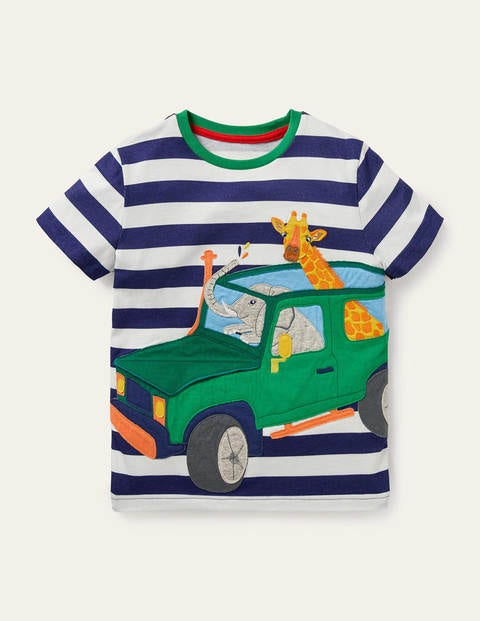 Travelling Animals T-shirt - Starboard Blue/Ivory Truck