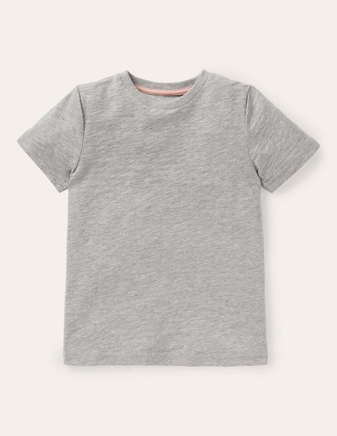 Slub Washed T-shirt - Grey Marl