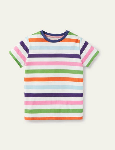Slub Washed T-shirt - Multi Rainbow