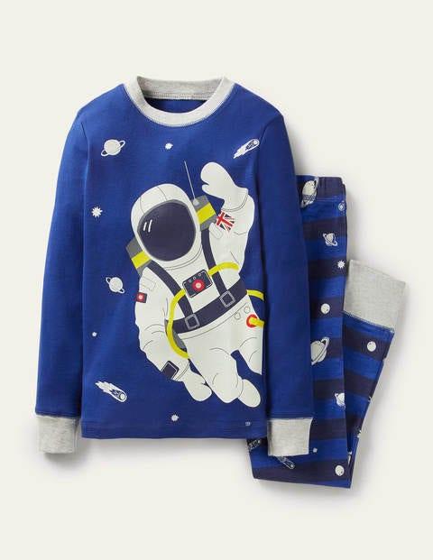 Snug Glow-in-the-dark Pyjamas - Brilliant Blue Astronaut