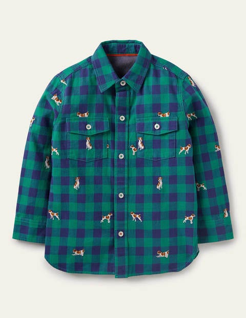 Cosy Embroidered Check Shirt