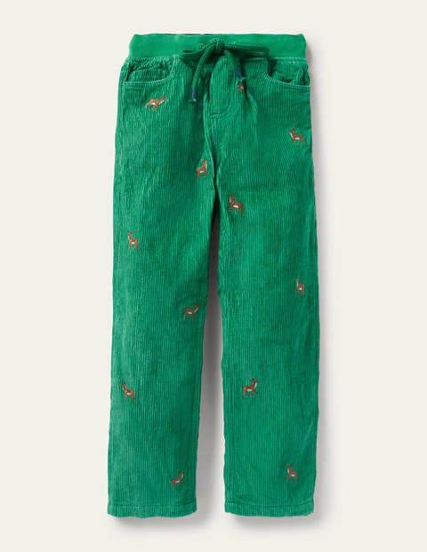 Pantalon cosy en velours côtelé doublé