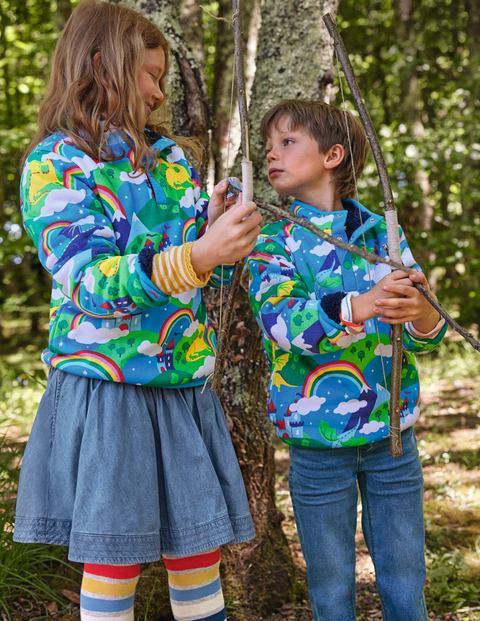 Reversible Henley Sweatshirt