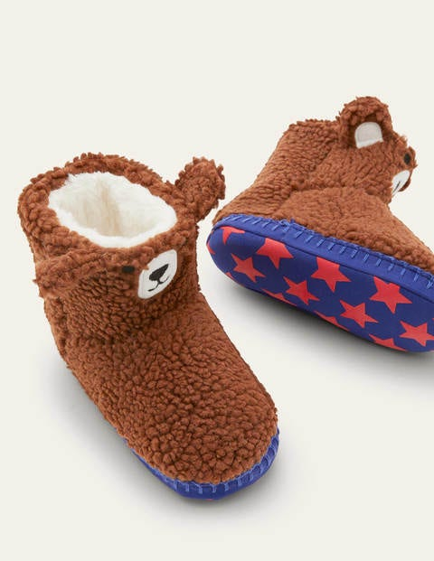Chaussons bottillons - Ours marron