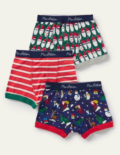 Weihnachtliche Boxershorts im 3er-Pack