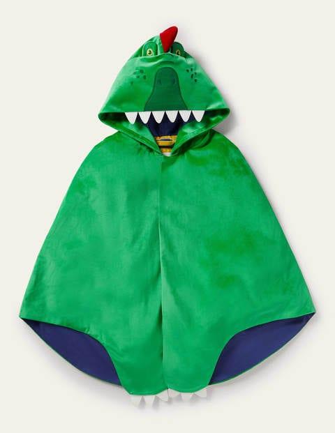 Fancy Dress Velvet Cape - Rich Emerald Dragon