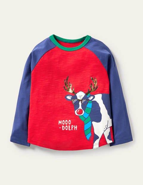 Festive Pun Raglan T-shirt