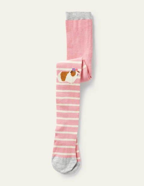 보덴 걸즈 타이즈 Boden Patterned Tights - Formica Pink Guinea Pig