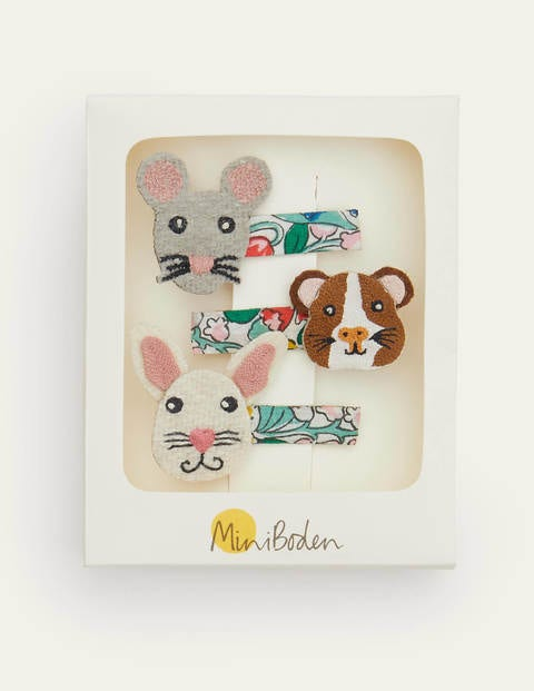 Hair Clips 3 Pack - Multi Animals