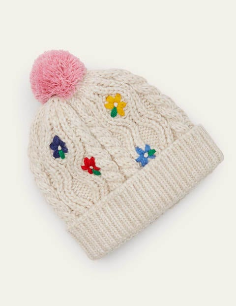 Embroidered Knitted Hat