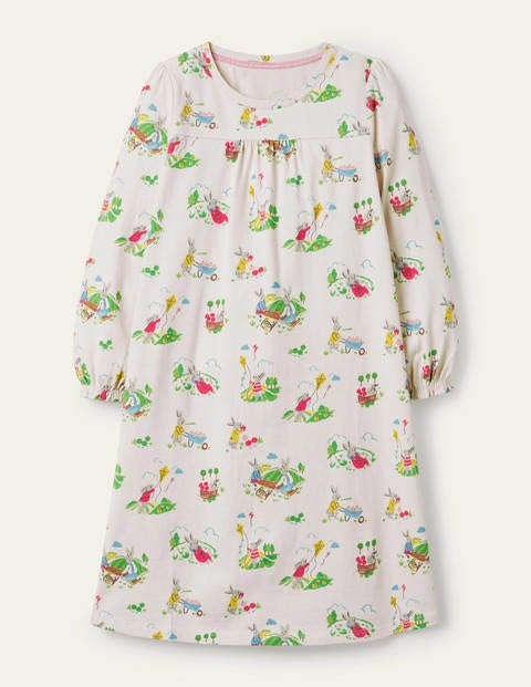 Printed Long-sleeved Nightie