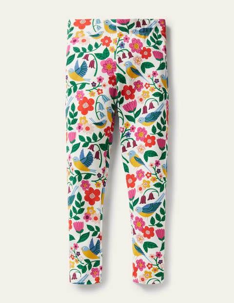 Fun Leggings - Multi Garden Birds