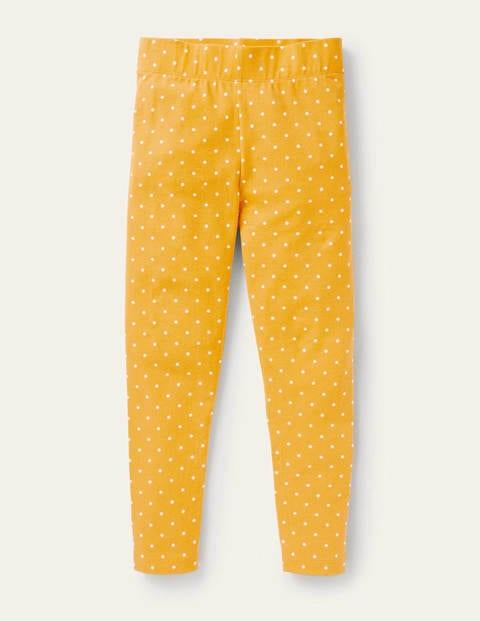 Fun Leggings - Honeycomb Yellow Pin Spot