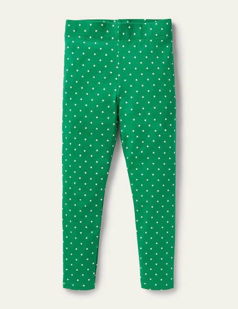 Fun Leggings - Highland Green Pin Spot
