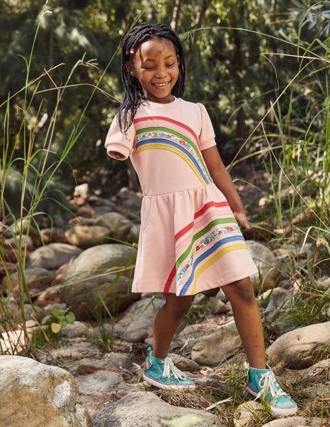 Rainbow Sweatshirt Dress