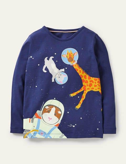 Glow-in-the-dark Logo T-Shirt - Starboard Blue Space Animals