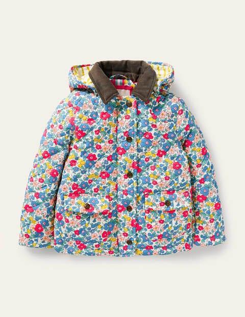 보덴 걸즈 자켓 Boden Quilted Jacket - Multi Apple Blossom Floral