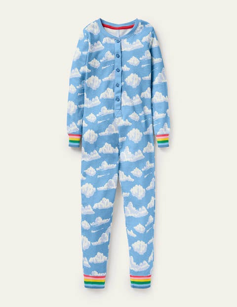 Snug All-in-one Pyjamas - Surfboard Blue Clouds
