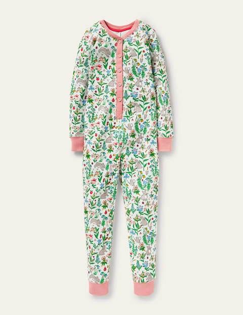Snug All-in-one Pyjamas - Multi Bunny Field