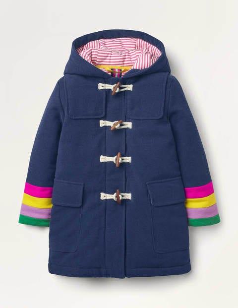Rainbow Cuff Wool Duffle Coat
