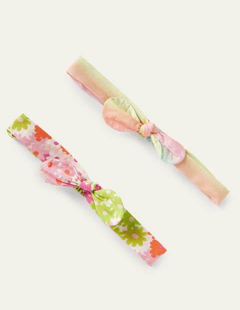 Bow Headbands 2 Pack - Bright Multi Floral Rainbow