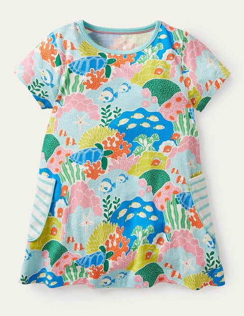 Short-sleeved Printed Tunic