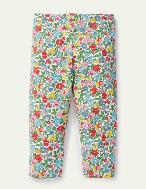Fun Cropped Leggings - Multi Vintage Ditsy Floral