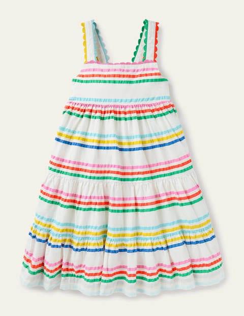 Rainbow Tiered Twirly Dress