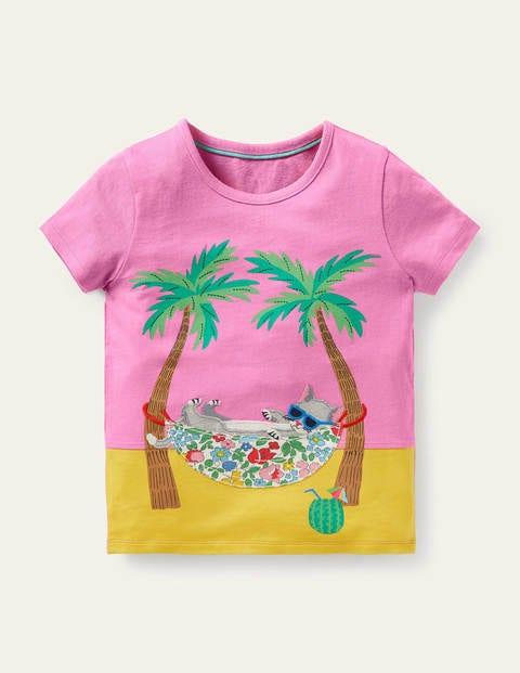 T-Shirt mit fröhlicher Tierapplikation PNK Boden Boden, PNK