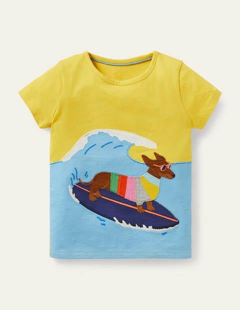 Funny Animals Appliqué T-shirt