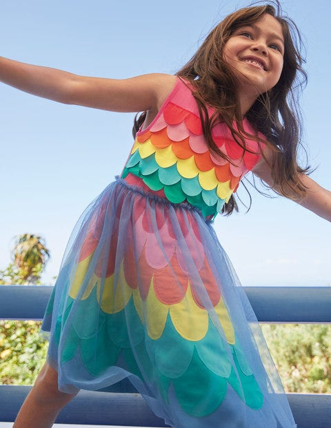 Rainbow Mermaid Jersey Dress