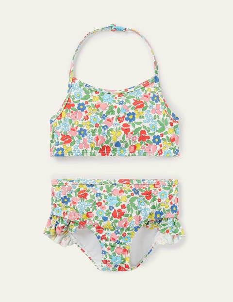 Bikini dos-nu - Motif petites fleurs vintage multi